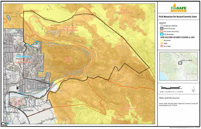 Fitch Mountain Fire Hazard Severity Zones