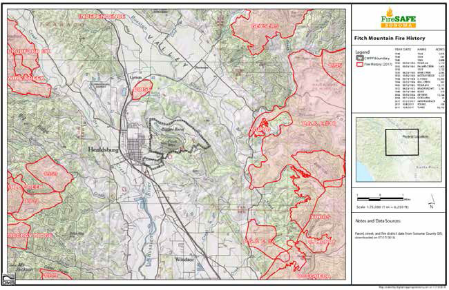 Fitch mountain Fire History
