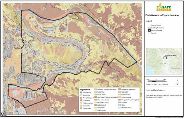 Fitch mountain Vegetation Map