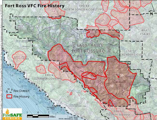 Fort Ross VFC Fire History